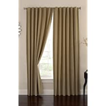 Absolute Zero 84-Inch Velvet Blackout Home Theater Curtain Panel, Cafe
