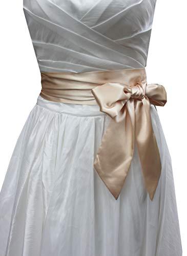 Wedding satin sash belt for special occasion dress bridal sash (Champagne)