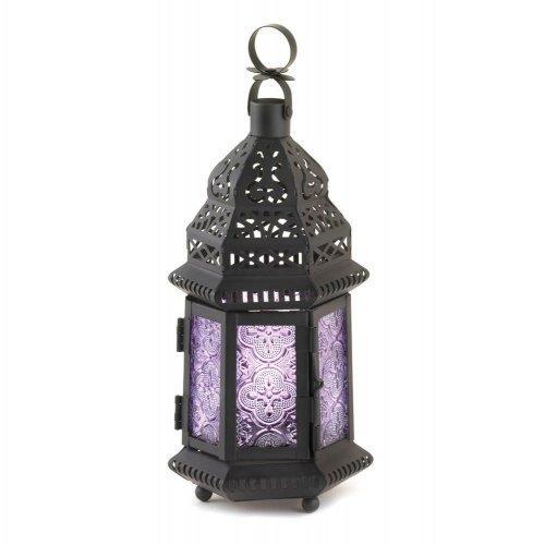 1 X Purple Moroccan Style Lantern