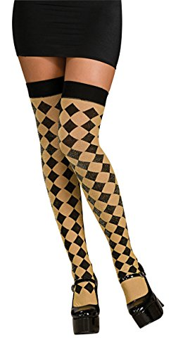 Checkered Thigh High Tights - 6
