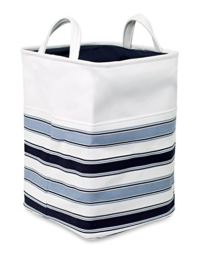 Birdrock Home Canvas Laundry Hamper With Handles Blue