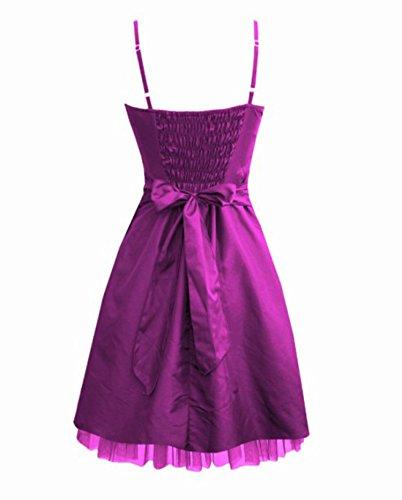Para Vestido de noche, largo hasta la rodilla en color morado morado