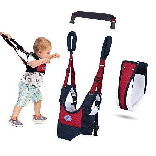 Baby Walker Toddler Walking Assistant Protective Belt,VIORKI Multifunction Breathable to Prevent Falling Learning Assistant,Help The Baby Safely Stand up and Walking (Dark Blue)
