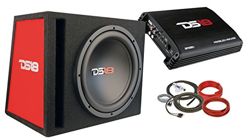 10' 600w Car Subwoofer (DS18 BP110 600W Complete Bass Package with 10