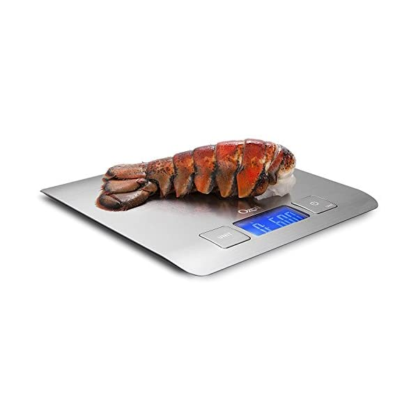 Zenith Digital Kitchen Scale by Ozeri, in Refined Stainless Steel with Fingerprint Resistant Coating 417xyYYU1BL