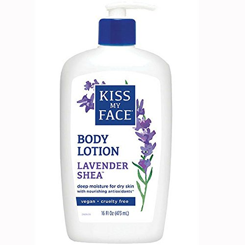 Kiss My Face Essential Oils Body Lotion - Kiss My Face Moisturizer Lavender & Shea Butter 16 oz