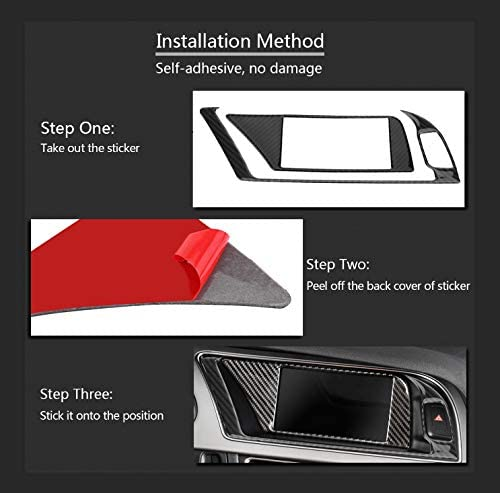 Qiilu Carbon Car Panel Abdeckung Für B8 A4 A5 Rs4 Rs5 S4 S5 Passend Für Linken Fahrer Auto