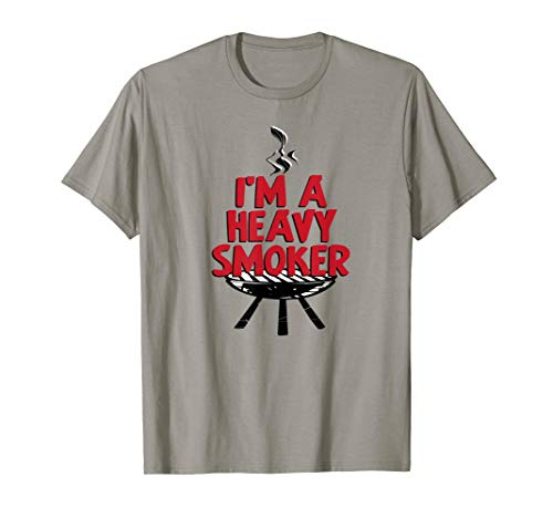 I'm A Heavy Smoker BBQ Grilling Summer Meat Pig Fun Gift T-Shirt