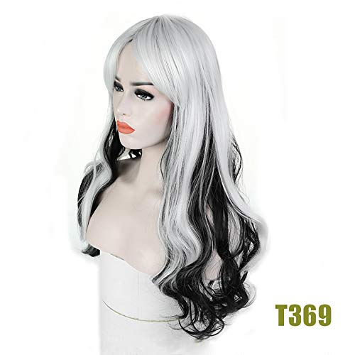 Long Curly Wig Synthetic Hair Heat Resistant Costume Wig Cosplay Halloween Party For -