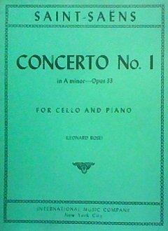 Saint-Saens Concerto No. 1 in A minor--Opus 33 for cello and piano
