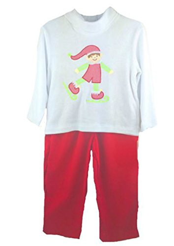 Petit Ami Toddler Boys Christmas Outfit Elf (4T)