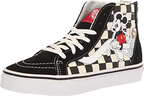 Vans Little/Big Kids x Disney Mickey Mouse 90th Anniversary Sk8-Hi Zip Shoes (2 M US Little Kid, Mickey/Checkerboard) Disney Mickey Mouse Shoe