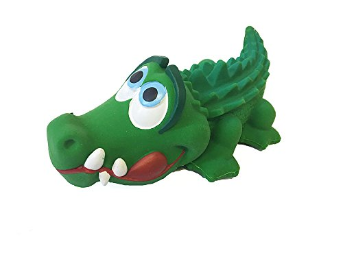 Crocodile Sensory Dog Toy. 100% Natural Rubber (Latex). Lead-Free & Chemical-Free. Complies to Same Safety Standards as Children's Toys. Soft & Squeaky. Best Dog Toy for Medium and Puppy Dog.