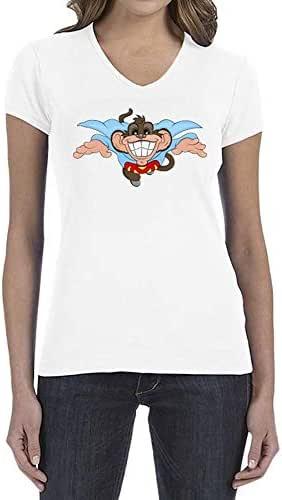 IngraveIT Cotton V Neck T-Shirt For Women