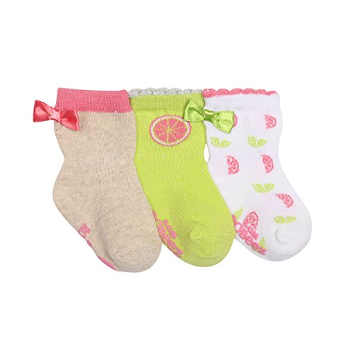 Robeez Baby Girls' 3-Pack Socks.