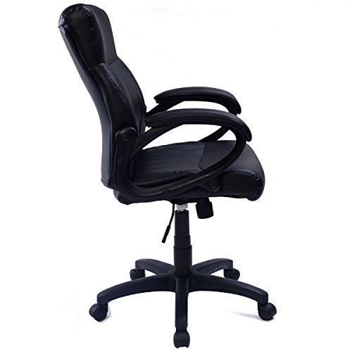 cheap tangkula pu leather ergonomic computer desk task office chair