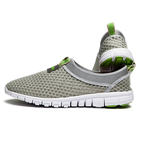 Kensbuy Heren & Dames Ademende Lichtgewicht Outdoor Mesh Sneakers, Strand Aqua, Instapschoenen Groen