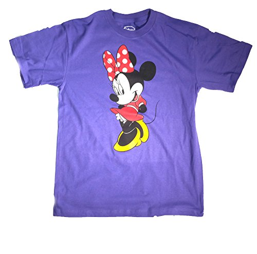 Authentic Disney Mickey and Minnie Mouse Adult T-Shirts (Choose From Various Styles) ( L, Purple) (Minnie Mouse Adult Outfit)