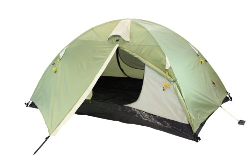 Ledge Sports Tarantula 2 Person Light Weight Fiberglass Pole Backpacking Tent, Green, 92 x 58-Inch