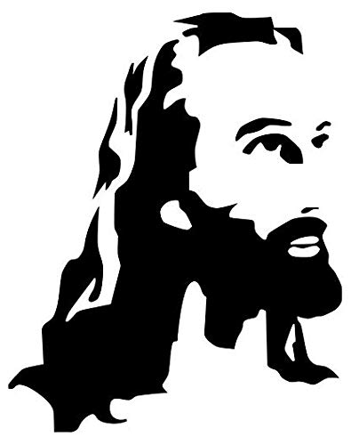 Jesus Face - Sticker Graphic - Auto, Wall, Laptop, Cell, Truck Sticker for Windows, Cars, Trucks