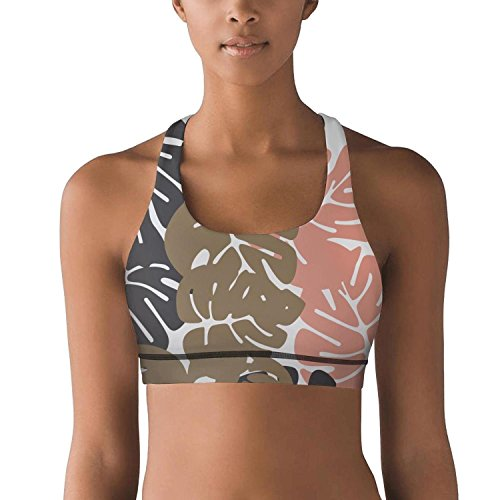 Delight Bouquet (Gustaix Zimund Women's Racerback Sport Bra Paint Tropical Leaves Bra for Yoga Gym Running Fitness)