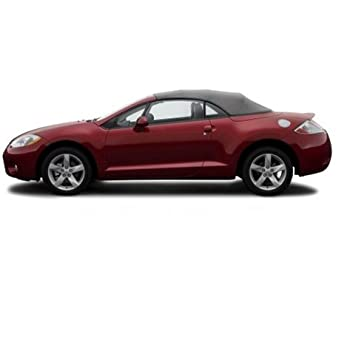 mitsubishi eclipse spyder convertible top 2006 2011 in stayfast cloth with glass window gray