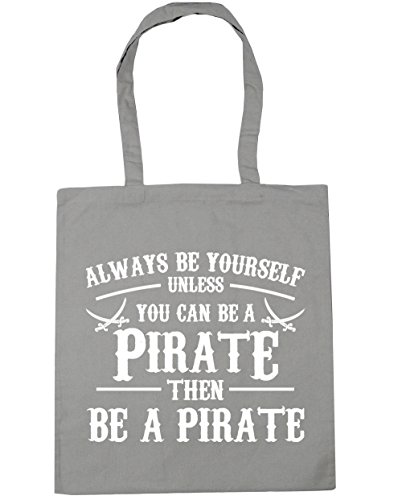 x38cm Pirate be a yourself be 10 Light HippoWarehouse Tote litres Always Shopping Bag Grey Beach unless you Gym can 42cm 508Zwq4wx