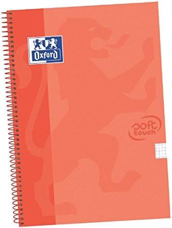 Oxford Touch - Pack de 5 cuadernos espiral, tapa extradura, color coral: Amazon.es: Oficina y papelería