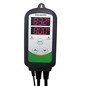 Inkbird Itc-308 Digital Temperature Controller Outlet Thermostat, 2-stage, 1100w, w/Sensor