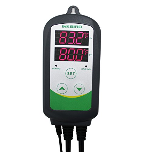 Inkbird Itc-308 Digital Temperature Controller Outlet Thermostat, 2-stage, 1100w, w/Sensor from Inkbird