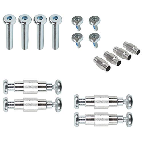 Dime Bag Hardware Inline Skate Axles and Aluminum Spacers 8-Pack 30mm Rollerblade Nuts and Bolts