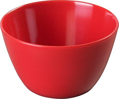 "Carlisle KL35005 Kingline Melamine Bouillon Cup, 7.7-oz. Capacity, 2.20"" Height, Red (Case of 48)"