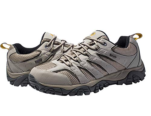 Kwong Wah Men's Waterproof Hiking Shoes (US 9.5/ EU 42) Walnut ()