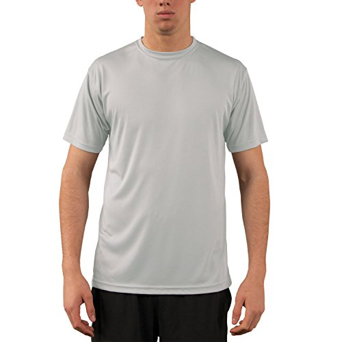 (Vapor Apparel Men's UPF 50+ UV Sun Protection Performance Short Sleeve T-Shirt Small Pearl Grey)