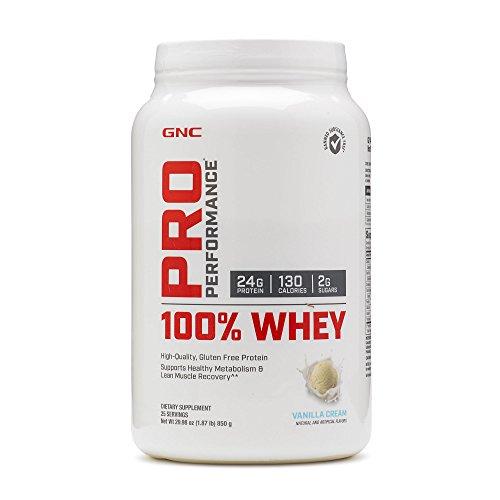Gnc Protein Whey (GNC Pro Performance 100 Whey Protein - Vanilla Cream 1.87)
