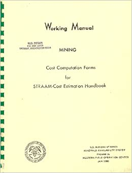 Working Manual-Beneficiation- Cost Computation Forms for