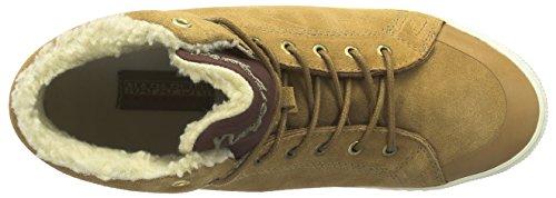 Napapijri Ellen - zapatillas deportivas altas de cuero mujer beige - Beige (light toffee N40)