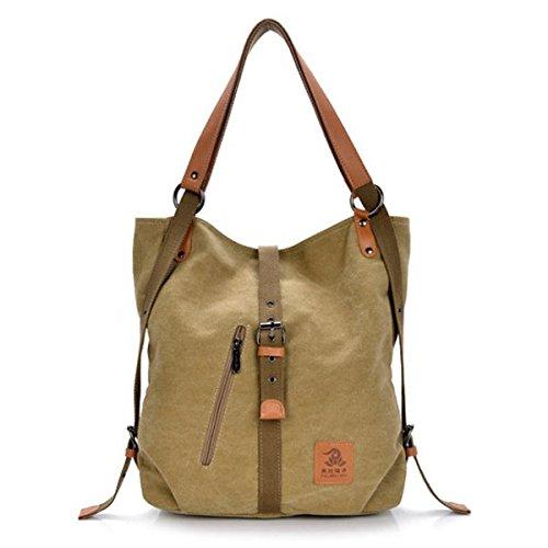 Women Handbag Tanchen Canvas Shoulder Bags Multifunction Backpack Casual Crossbody Bags Students School Bags