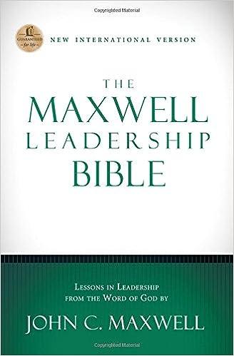NIV, The Maxwell Leadership Bible, Hardcover: John C. Maxwell ...
