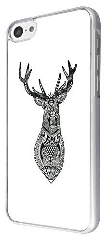 835 - Aztec Deer Head Design iphone 5C Coque Fashion Trend Case Coque Protection Cover plastique et métal