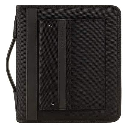 Classic Friday Nylon Zipper Binder With Handles - Black (Franklin Covey Black Pocket)