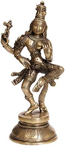 Dancing Ardhanarishvara Shiva Shakti – Brass Sculpture