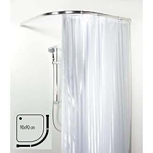 Spirella barra de cortina ova rondo aluminio brillante hogar - Barra cortina bano ...