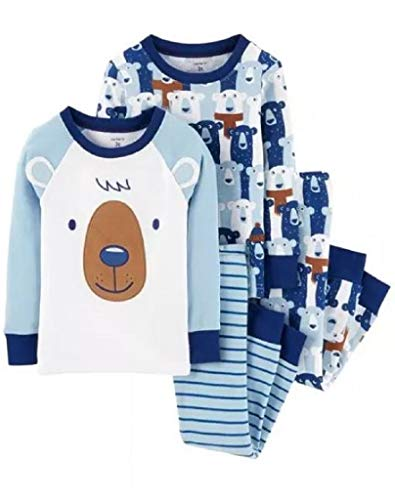 - Carter's Baby Boys' 4 Piece Cotton Sleepwear (12 Months, Blue/Bear)