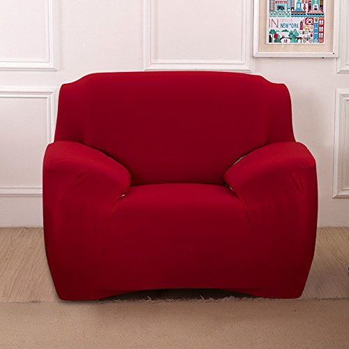 - Boshen Stretch Seat Chair Covers Couch Slipcover Sofa Loveseat Cover 9 Colors/4 for 1 2 3 4 Four People Sofa + 1 Pillowcase (Chair, Red)