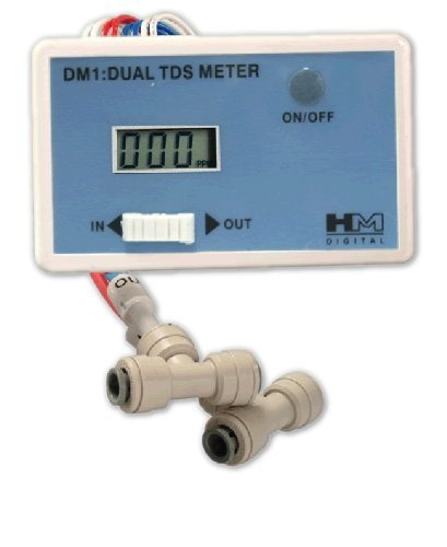 HM Digital DM-1 In-Line Dual TDS Monitor, 0-9990 ppm Range, +/- 2% Readout Accuracy by HM Digital