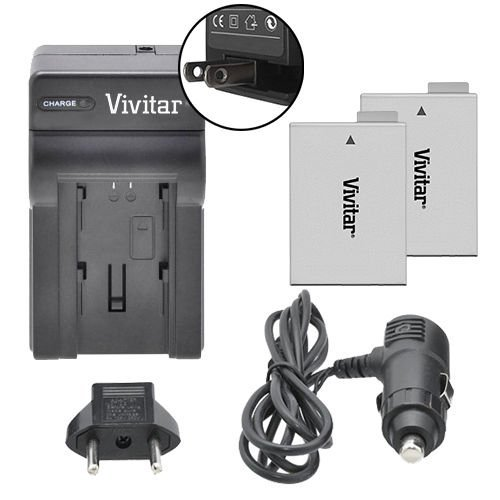 Vivitar VIV-CB2Q-E8 Canon Kit Digital Camera Battery Charger, Black for CANON REBEL T5i T4i T3i T2i, EOS 700D 650D 600D 550D DSLR LP-E8 Replacement Battery by Vivitar
