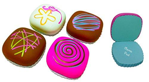 (Inkology Sweet Spot Chocolate Truffles Memo Pads, 12 Piece Set, 100 Sheets per Pad, 3 Each of 4 Designs (06767))