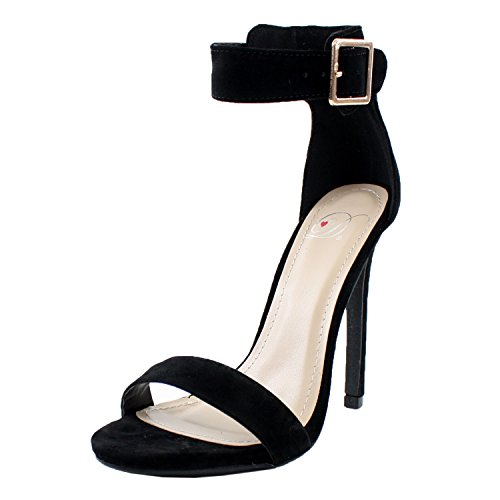 8 Single Women's Strap Ankle High Sole Black Canter Heels Delicious Lami vSOqBx