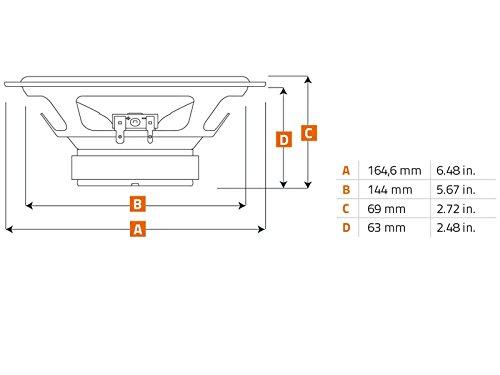 Hertz Lautsprecher 440W 16,5cm X165 Koax incl Einbauset f/ür Hyundai i20 ab 2015